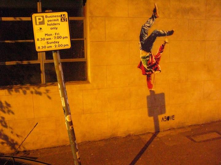 Above streetart night