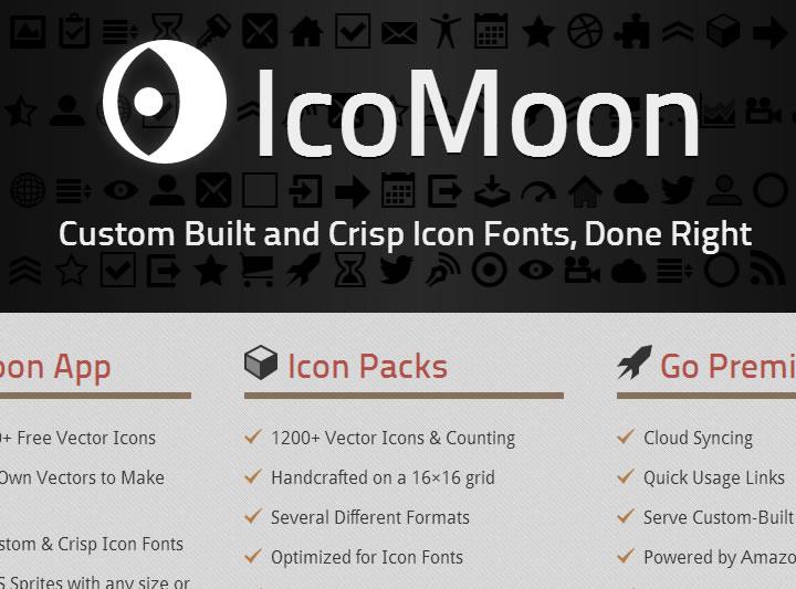 icons font - icomoon