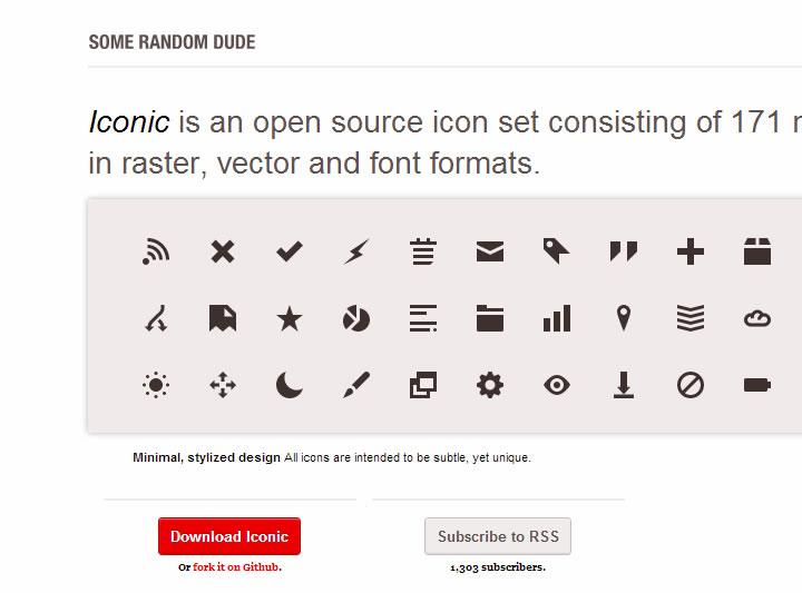 icons font - iconic