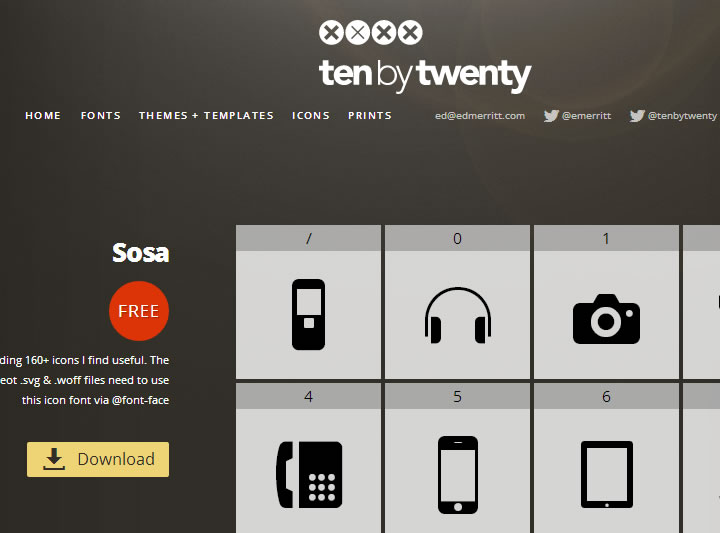 icons font - tenbytwenty