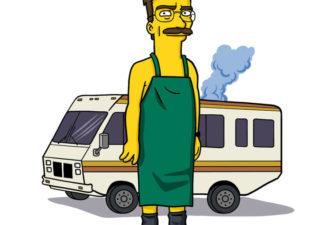 Illustration Breaking Bad style Simpsons
