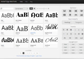 Typographie : Adobe Edge Web Fonts, un concurrent à Google Fonts 1