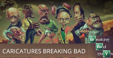 Illustration : Caricatures Breaking Bad par Anthony Geoffroy 5