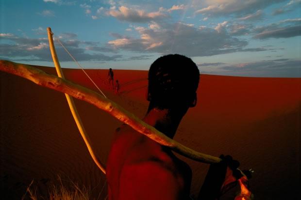 16 Dans le parc national de Gemsbok-Kalahari (Afrique du Sud, 1996)
