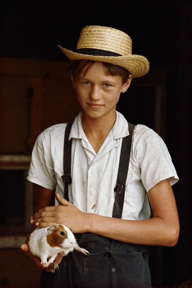 17 Garçon amish à Lancaster (États-Unis, 1964)