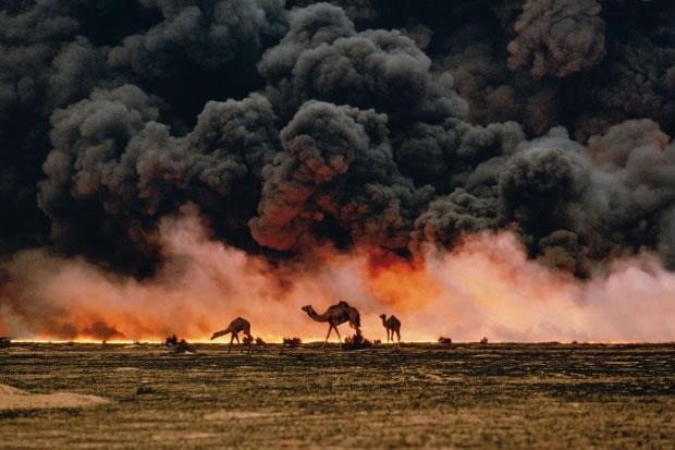 22 Champs de pétrole (Koweit, 1991)