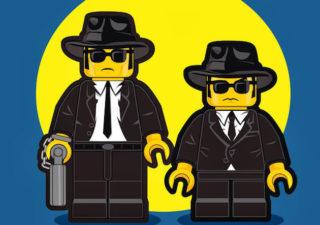 Les personnages de films des années 80 en LEGO par Dan Shearn
