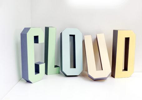 Typographie : Un alphabet 3D Papier imprimable à télécharger 10