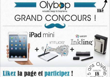 [Concours 5 Ans] Gagnez un ipad mini, une tablette graphique et un Inkling Wacom 10