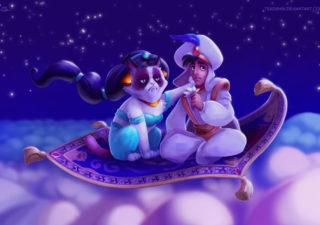 Illustration : Grumpy Cat le héros des films Disney