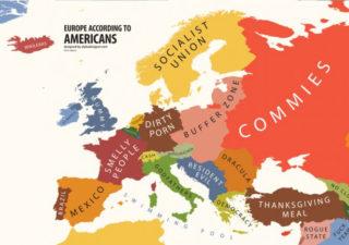 Les cartes de stéréotypes des pays du monde 1