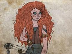 Illustration Disney version The Walking Dead 1