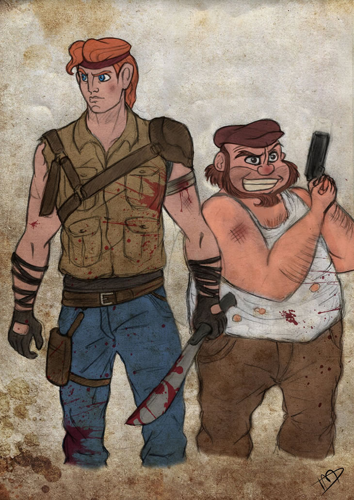 the_walking_disney_herc_and_phil_by_kasami_sensei
