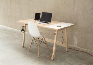 Bureau direction avec plateau en bois design tendances actuelles