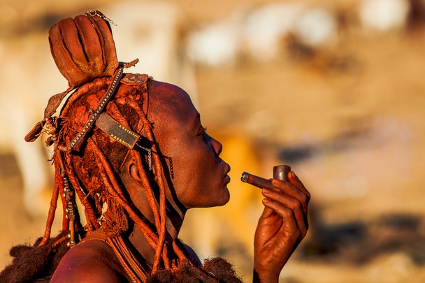 Himba Village Homestead, Northern Namibia - by Nancy Leigh