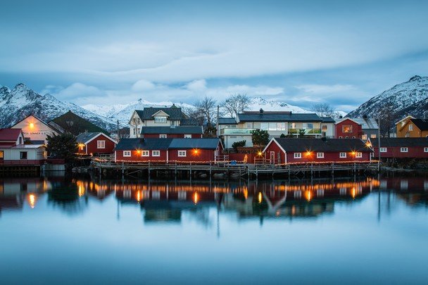 Winter Light - Svolvaer, Lofoten Islands by Kellie Netherwood