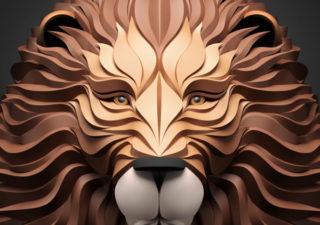 Les illustrations d'animaux 3D papier de Maxim Shkret