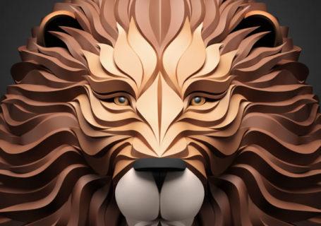Les illustrations d'animaux 3D papier de Maxim Shkret 12