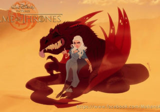 Les illustrations Game Of Thrones version Disney de Fernando Mendonça