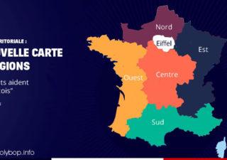 Parodies de la nouvelle carte des régions Françaises