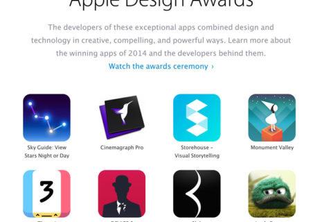 Les gagnants du Apple Design Awards 2