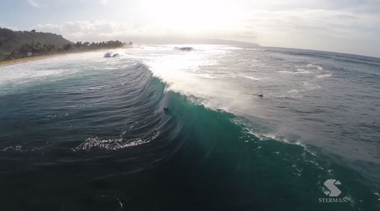 pipeline winter surf drone