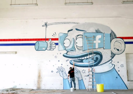 Streetart : Timelapse d'une fresque Facebook 9