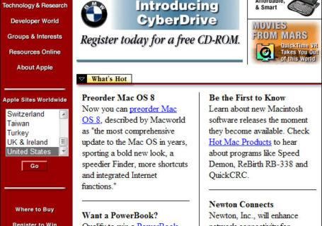A quoi ressemblaient la première version des 8 plus gros sites ? 8