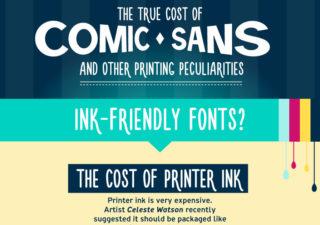Infographie : Le coût de l'utilisation de la typographie ComicSans 1