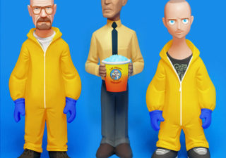 Les personnages de breaking bad en 3D 1