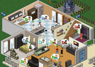 Illustration : Promotion des Sims4 en PixelArt 1