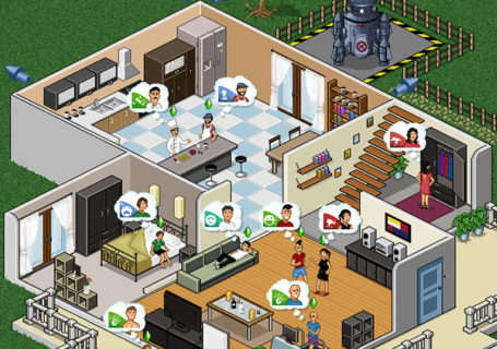 Illustration : Promotion des Sims4 en PixelArt 2