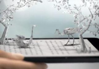 Animation papier pour le Kindle Voyage 1