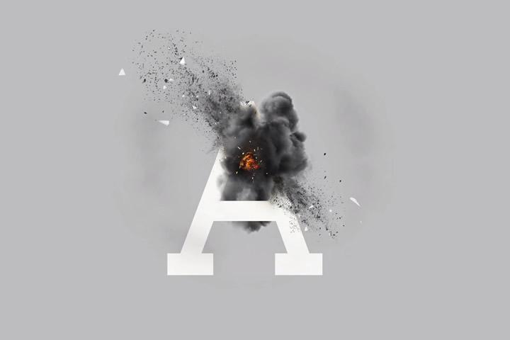 crash-text-typograpy