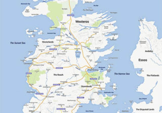 La carte de Game Of Thrones façon Google Map