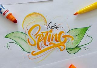 Typographie : Du lettering avec un pinceau 1