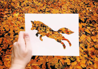 Un artiste utilise la nature comme moyen de coloriage