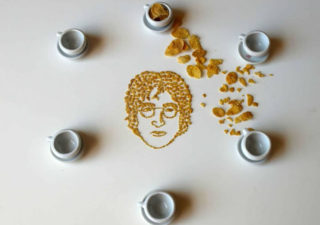 Des portraits de musiciens en cornflakes 1