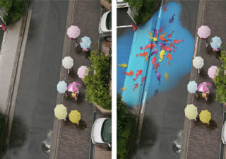 Des oeuvres se dévoilent sous la pluie 1