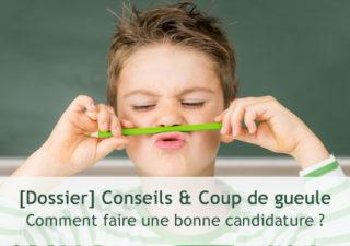 [Dossier ] Comment bien faire sa candidature Web : Conseils & Coup de gueule 1