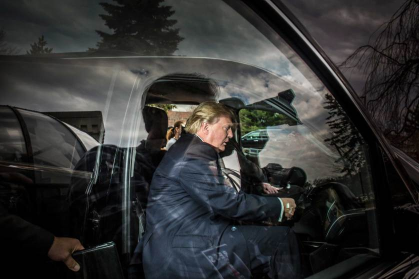 American businessman Donald Trump at the #FITN Republican Leadership Summit in Nashua, NH, April 17-18, 2015.