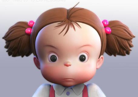 Mei en 3D : La fillette de mon voisin Totoro - Miyazaki 11