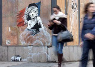 Banksy : Sa nouvelle oeuvre contre la France 1