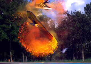 Slow Motion - Explosions of Color - Skateboarding 1