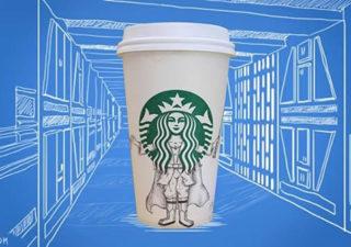 Les verres Starbuck illustrés par Abegreen 1