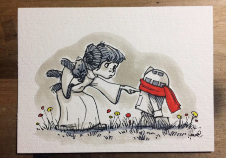 Peinture : Mix entre  Stars Wars et Winnie l'Ourson par James Hance 5
