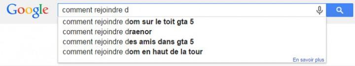 """La prédiction """"Daech"""" a été bloquée sur Google pour """"Comment rejoindre"""" (en français et en anglais avec """"Isis"""")"""