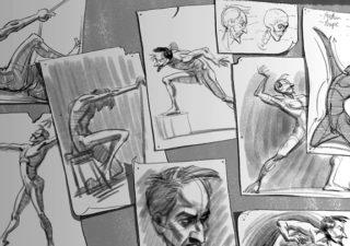 Court métrage ED : Sublime représentation d'un homme modèle pour dessin