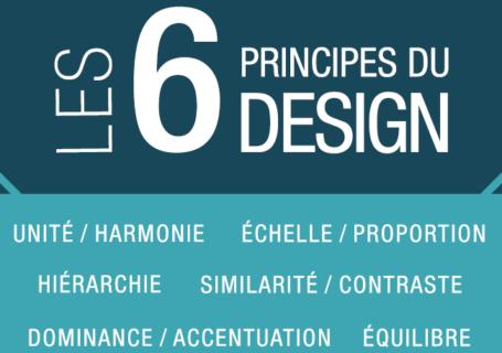 Infographie : Les 6 principes du design (Version Française) 2