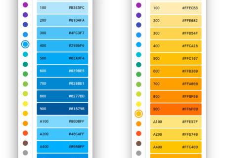 Projet : Palette de couleurs Material Design Mac 1